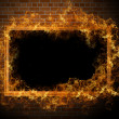 Empty frame with fire — Stock Photo