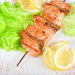 Tasty salmon kebab — Stock Photo #3588362