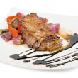 Stock Photo: Beef steak with vegetable