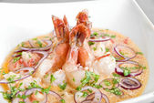 King shrimps — Stock Photo