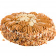 Tasty nuts cake — Stock Photo