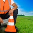 Road worker - Stock Photo