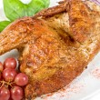 Half roasted chicken closeup - Stock Photo