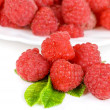 Stock Photo: Fresh raspberry