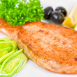 Grilled salmon steak — Stock Photo #3741462