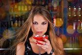 Ночной клуб девушка — Стоковое фото