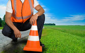 Road worker — Stock Photo