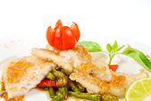Roast halibut — Stock Photo