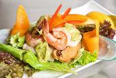 Seafood salad dish — Stock Photo