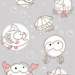 Doodle sea creatures — Stock Vector #2834333