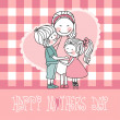Stock Vector: Happy mother`s day