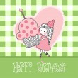 Happy birthday greeting card - Stok Vektr