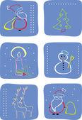 Winter icon set — Stock Vector