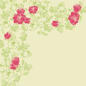 Róża ramka — Wektor stockowy