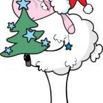 Sheep with christmas tree — Stock Vector #2840594
