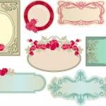 varie etichette romantiche vintage — Vettoriale Stock  #3550174