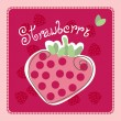 Strawberry card - Stock Vector
