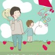 Happy father`s day greeting card — 图库矢量图片 #3550203