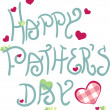 Happy father`s day — Vector de stock #3550208