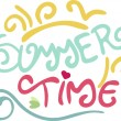 Summer time text — Imagen vectorial