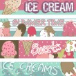 Ice Cream Banners — Stockvectorbeeld