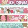 dondurma afiş — Stok Vektör