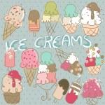 Ice Cream — Stock Vector