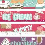 Yaz tatlılar afiş — Stok Vektör