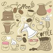 Coffee Doodle set — Stock Vector