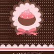 Vintage cupcake design — Stock Vector