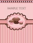 Vintage cupcake σχεδίου — Διανυσματικό Αρχείο