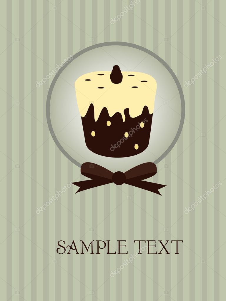 Lovely cupcake - vintage card design  Stock Vector #2740051