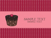 Cupcake σχεδίου — Διανυσματικό Αρχείο
