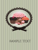 Cupcake design — Vector de stock
