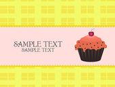Cupcake ontwerp — Stockvector