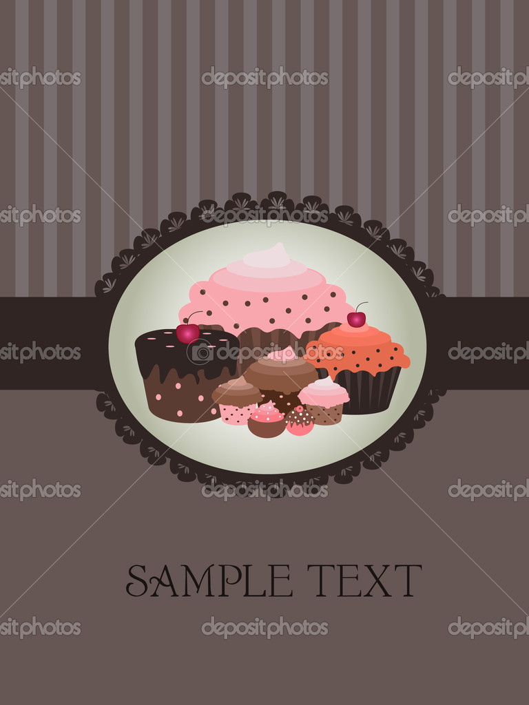 Vector illustration of sweet cupcake design — Stock Vector #2775212