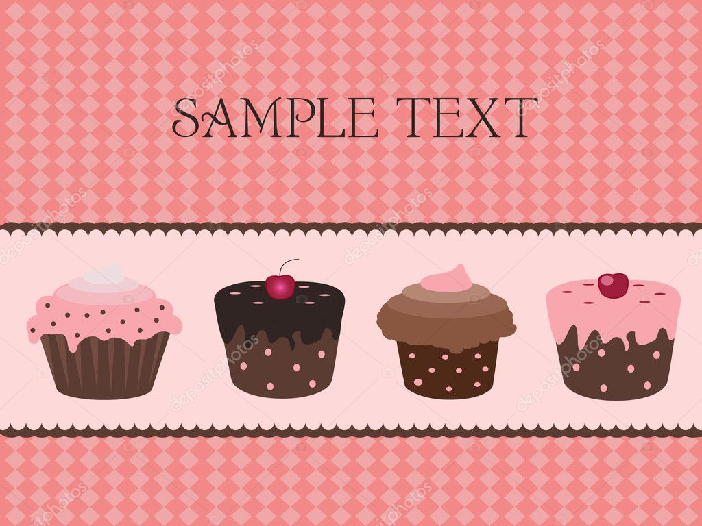 Vector illustration of sweet cupcake design — Stock Vector #2775251