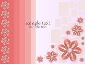 Spring floral background — Vector de stock