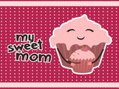 My sweet mom — Stock Vector