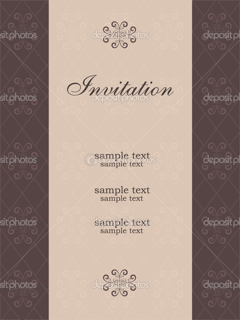 Vector illustration of vintage invitation template — Stock Vector #2884755