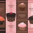 Royalty-Free Stock Vector Image: Cupcake banners