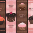 Cupcake banners — Stock Vector #2898769