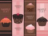 Bannières de cupcake — Vecteur