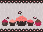 Cupcake love — Stock Vector