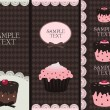 Cupcake banners — Stock Vector #3105491