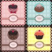 Cupcake setje — Stockvector
