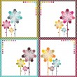 Flower card design set — Stock Vector