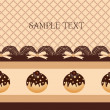 Chocolate cupcake background — Imagen vectorial