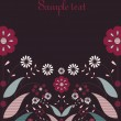 Royalty-Free Stock Imagen vectorial: Flower card design