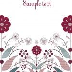 projeto de cartão da flor — Vetorial Stock